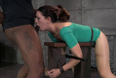 Description Sarah Shevon Restrained And Used Hard From Both Ends By Hard Cock