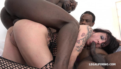 Dirty Anal Whore Enjoys Multiple Gangbang & Dounle Anal With Big Black Cocks
