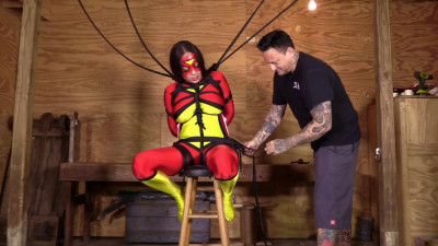 Nyssa Nevers — Spiderwoman Strung Up
