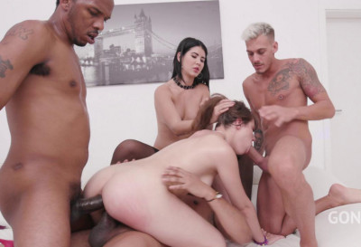 Luna Rival & Lady Dee In Dominate Gangbang With Double Fuck