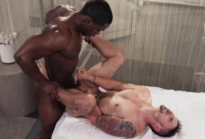 Interracial penetrating massage