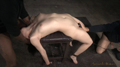 Pale All Natural Aria Alexander Bound And Brutally Deepthroated