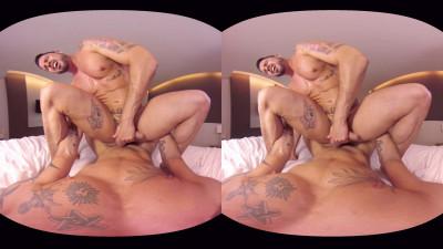 VirtualRealGay Vr180 - Tough Guys (Antonio Miracle and Mario Domenech; Flip Pov)