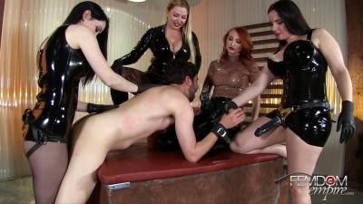 Lexi Sindel, Alexandra Snow, Kendra James And Mina Thorne Strap-On Gang Bang