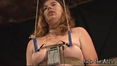Tight bondage, domination and torture for naked slavegirl part 1