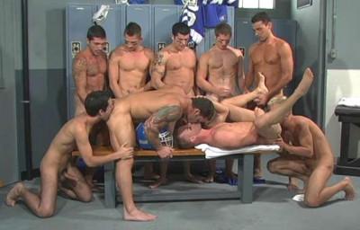 Description Locker Room Orgy With Team