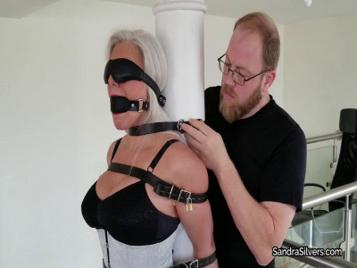 Corset and Girdle-Clad MILF in Strict Leather Strap Pole Predicament!