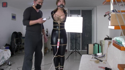 Tight bondage, domination and torture for very sexy girl in latex HD 1080p