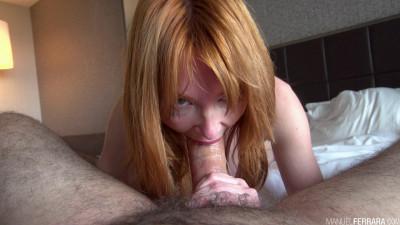Ravishing Redhead Lacy Lennon Seductively Stares At You While Sucking Manuels Dick