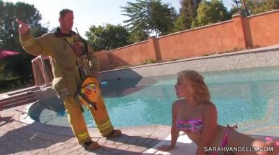 Firefighter fuck busty beauty