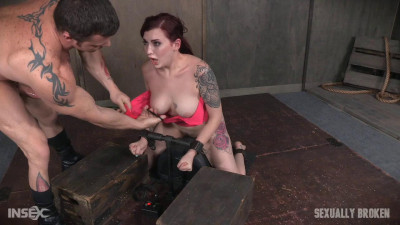Amber Ivy is bound in shackles on a Sybian, made to cum over and over while brutally face fucked!