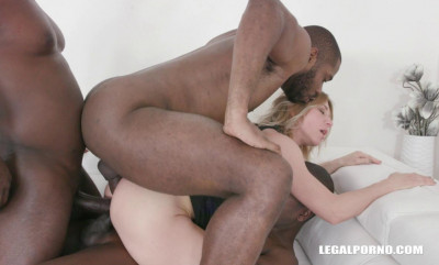 Inerracial Acrobatic Orgy With Double Fuck & Triple Anal