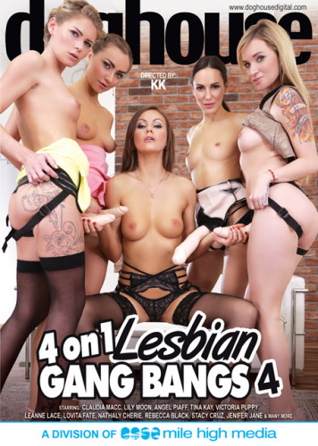 Description 4 On 1 Lesbian Gang Bang Part 4