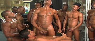 Description Black Balls In Underground Gangbang Party
