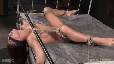 Tiny little Sarah Luvv bound blindfolded roughly fucked drooling mess (2015)