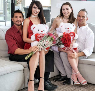 Aften Opal, Hime Marie - Valentines Day Girl Orgy FullHD 1080p