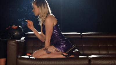 Carly Chain Smoking Marlboro