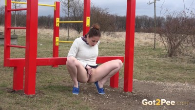 Antonia at the Playground