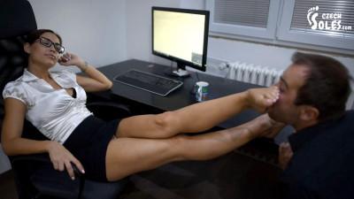 Satin Bloom Sexy Secretary In Control