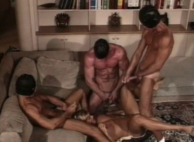 Retro Fuck With Gangbang For Buttbusters