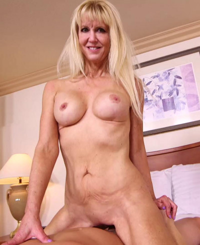 Cait - Busty blonde cougar does first porn FullHD 1080p