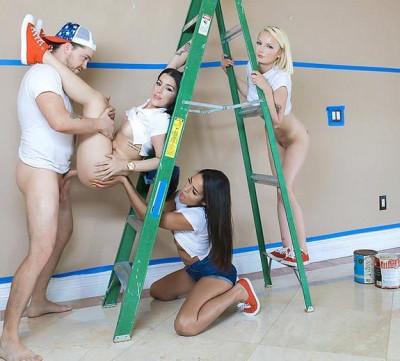 Alice Pink, Jessica Jewels, Vienna Black – Dripping Paint FullHD 1080p