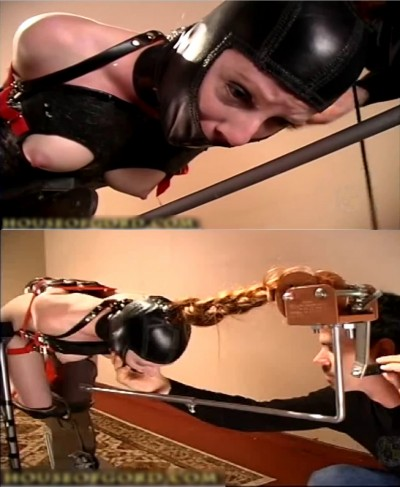 Tight bondage, predicament and torture for hot bitch