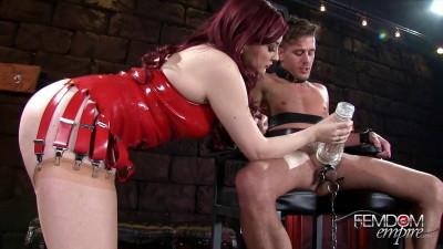 Amber Ivy - Bondage Milking Chair