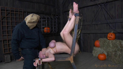 Ela Darling Firmly Bound And Throatboarded By Hard Cocks While Cumming On A Fucking Machine