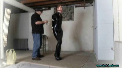 Rachel Adams Catsuit, OTK Boots, Strappado and the Whip!