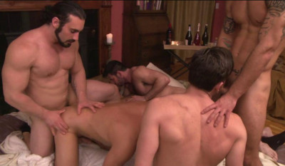 First Gang Bang With Muscle Men