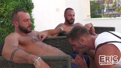 Dani on his way to meet 2 big cocks – Dani Robles, Leo Rosso & Sir Peter