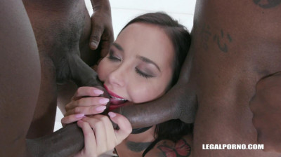 Sexy Slut Freya Dee Gangbanged By African Cocks With DP & Dap