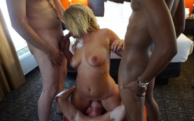 First Gangbang & Bukkake For Sexy Lauren