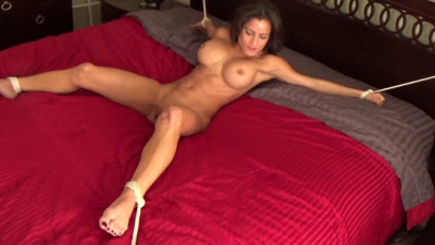 Description Big Boobed Girl Snatched And Tied Spreadeagle