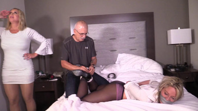 Adara Jordin-I caught the tied up bitch trying to fuck my boyfriend!