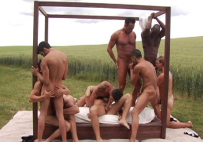 Amazing Outdoor Gangbang