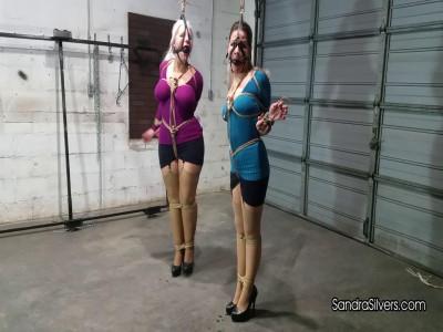 Description Sandra Silvers & Whitney Morgan - Tight Breast Bondage