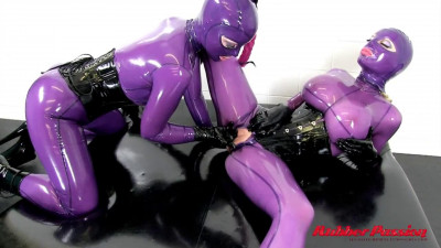 Bondage, domination and torture for two sexy bitches in latex