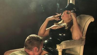 Ashley Chain Smoking Latex Smoking Domination