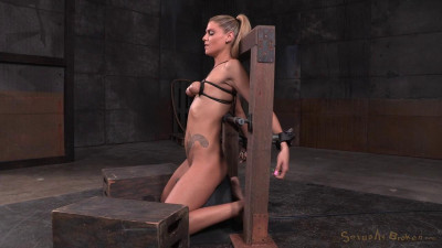 Description To sybian in breast bondage and facefucked-rough bdsm porn