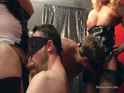 Female Teen With Shemales And Males In Wild Amateur Orgy