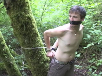 Slave billy tied hard and seek bondage action. watch sm gays!