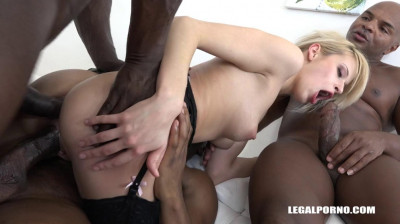 Interracial anal gangbang with DP for Ria Sunn