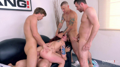 Description Ariel Blue - Redhead Fucked And Double Penetrated In A Gangbang (2017)