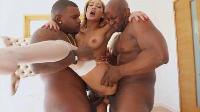 Gorgeous Chloe Amour Takes on Two Hung Black Studs at Once