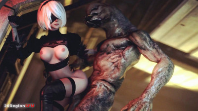 2B-Whore For Monster - Full HD 1080p