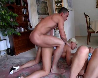 Rough threesome sex