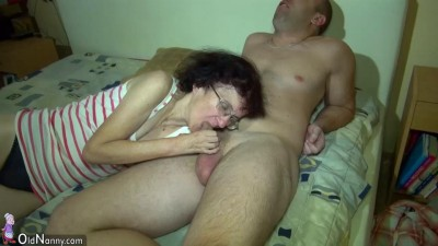 Really old grandma still loves young cock