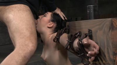 Sexy Aria Alexander Bound In Brutal Back Arch.